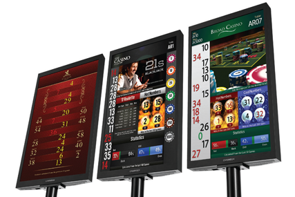 Cammegh billboard winnning number display for american roulette wheel