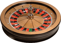 Connoisseur roulette wheel from Cammegh with Oak veneer