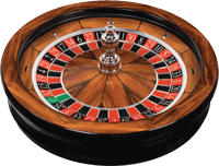 Cammegh Connoisseur american roulette wheel with Rosewood veneer