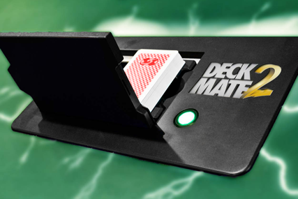 DeckMate2 card shuffler for poker room